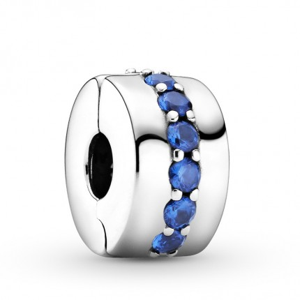 PANDORA Silberelement Clip Blue Shining Path 791972C01