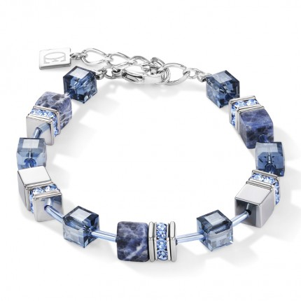 COEUR DE LION Armband Geo Cube Sodalith Blau 4017/30-0700