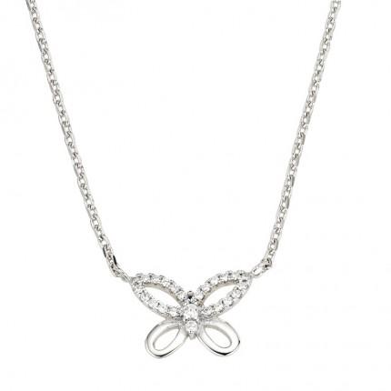 CEM Collier Silber Schmetterling BCO901555