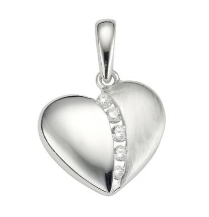 CEM Anhänger Herz Silber Zirkonia BAH 904737