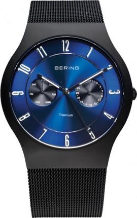 Bering Herrenuhr Classic Schwarz 11939-078