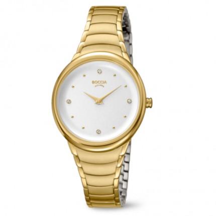 Boccia Titanium Damenuhr Trend Gold 3276-14