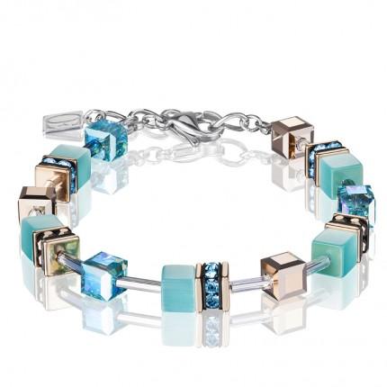 COEUR DE LION Armband Geo Cube Aqua 4016/30-2000