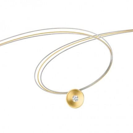 CEM Collier 333/- Gold Zirkonia G3-00415C