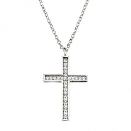 CEM Collier Silber Kreuz BCO901559