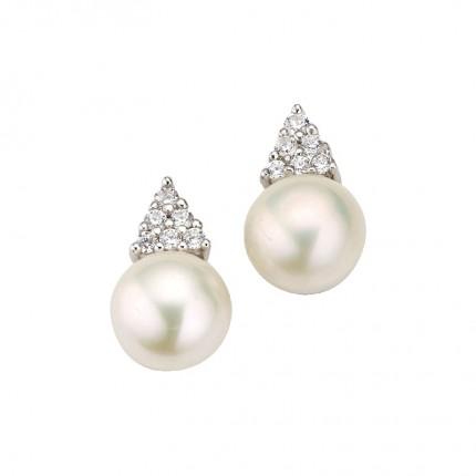 CEM Ohrschmuck Silber Perle BOS905156