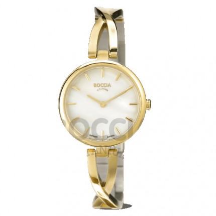 Boccia Titanium Damenuhr Dress Spange Gold 3239-03