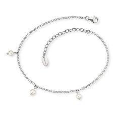 Engelsrufer Fußkette Silber Rhodiniert Perle ERF-LILPE
