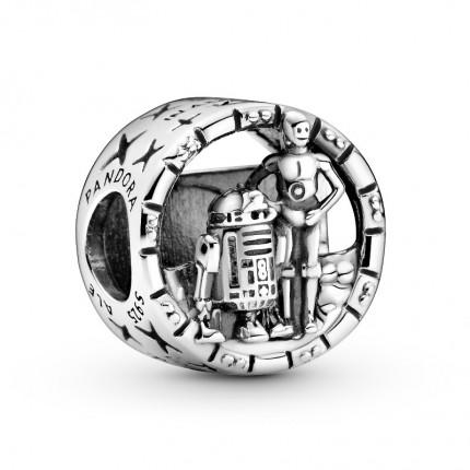 PANDORA Star Wars Silber Charm C3-PO & R2-D2 799245C00