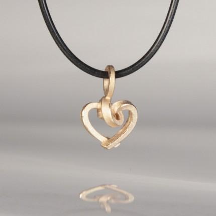 Knotenschmuck Anhänger Herz 925/- Silber rosevergoldet ANH H20 rose