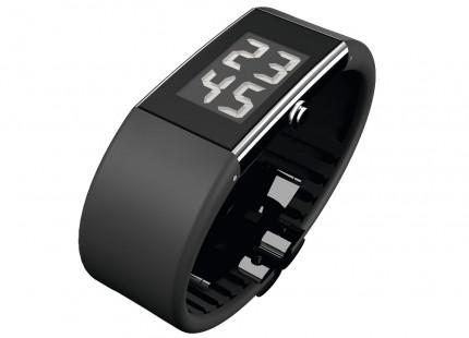 ROSENDAHL Armbanduhr Digital Watch II Small Edelstahl Polyurethan Schwarz 43123