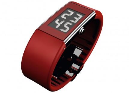 ROSENDAHL Armbanduhr Digital Watch II Small Edelstahl Polyurethan Rot 43128