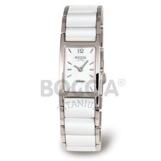 Boccia Titanium Armbanduhr Ceramic Weiß 3201-01