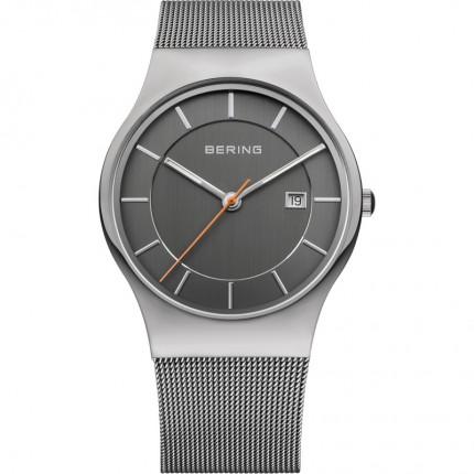 Bering Herrenuhr Classic Titanium Grau 11938-007