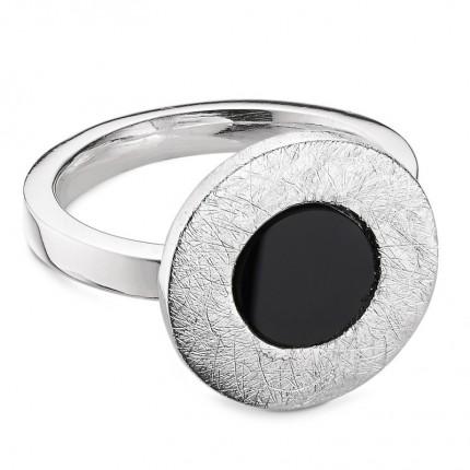CEM Ring 925/- Silber Onyx S-00608R