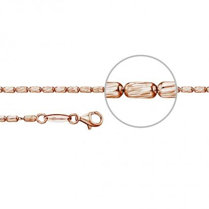 DER KETTENMACHER Rosarioarmband Silber Rotvergoldet 2,2mm ROS4-19R