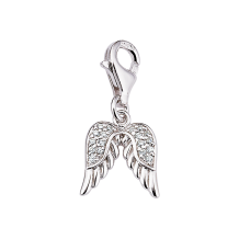 CEM Charms Anhänger Flügel Zirkonia Silber CMM311