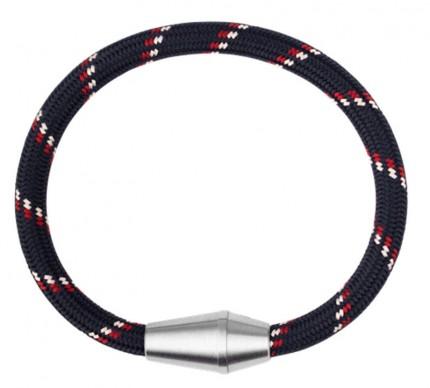 Paul Hewitt CONIC Armband Edelstahl Nylon Marineblau Rot Weiß PH002755