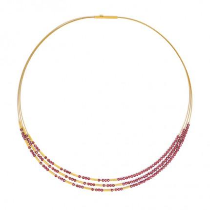 BERND WOLF Collier CLINI Silber Goldplattierung Granat 85233776-43