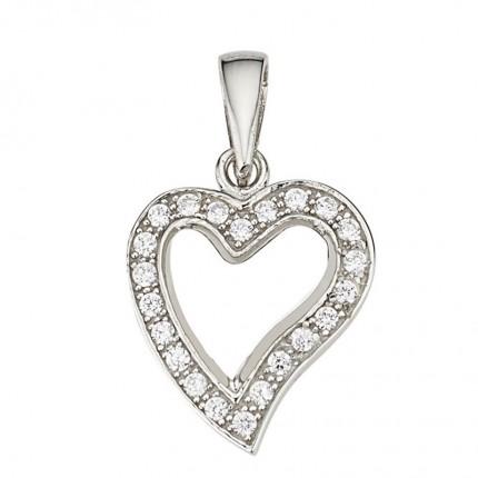 CEM Anhänger Herz Silber Zirkonia BAH904884