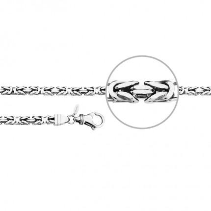 DER KETTENMACHER Sterlingsilber Rhodiniert Königsarmband Diamantiert 5,9mm KÖ5-21S