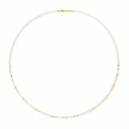 BERND WOLF Collier REINATA Silber Goldplattierung Süßwasserperle 85407656-43