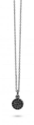 SPIRIT ICONS Collier Mini Silber Rutheniert Zirkonia 10133-45