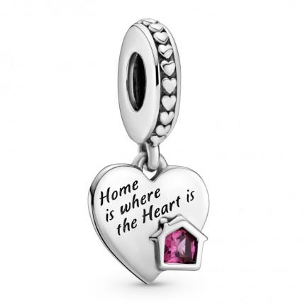 PANDORA Silberelement Love my Home Heart 799324C01