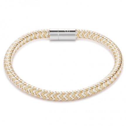 COEUR DE LION Armband Metall Geflochten Gold Silber 0116/31-1617