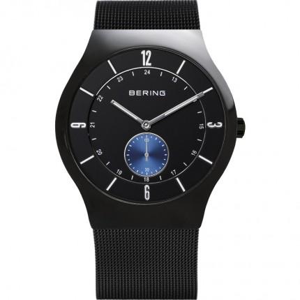 Bering Herrenuhr Classic Quarz Schwarz 11940-228