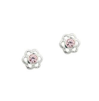 CEM Ohrschmuck Silber Blume Zirkonia Pink BOS 904503