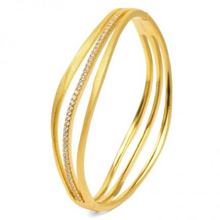 BERND WOLF Armreif SENTRO Silber Goldplattiert Zirkonia 63019156