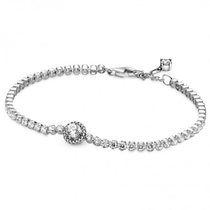 PANDORA Armband Silber Sparkling Halo Tennis 599416C01