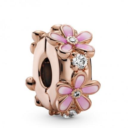 PANDORA Element 14k rose gold plattiert Clip Pink Daisy 788809C01