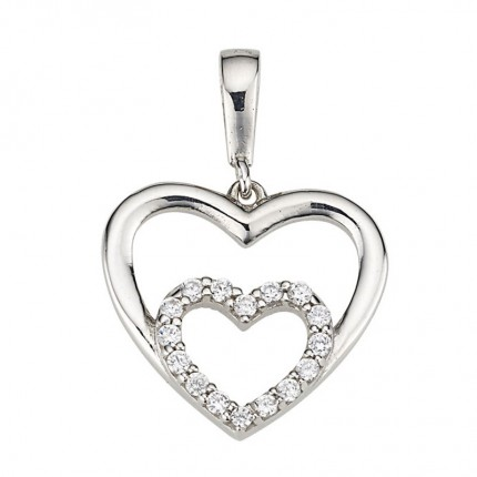 CEM Anhänger Herz Silber Zirkonia BAH904870