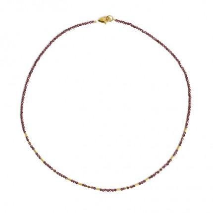BERND WOLF Collier TABACI Silber Goldplattierung Granat 84436776-43