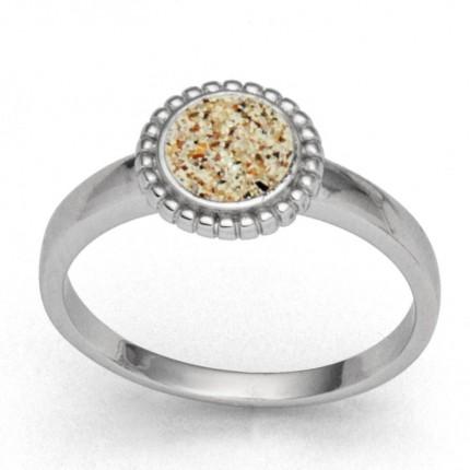 DUR Ring Silber Rhodiniert Strandzauber klein Strandsand R5482