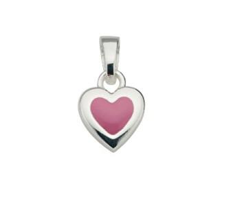 CEM Anhänger Silber Herz Rosa BAH 901505