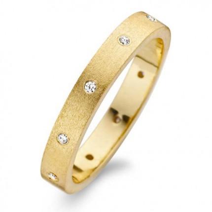 SPIRIT ICONS Ring Raw Silber Vergoldet 53182