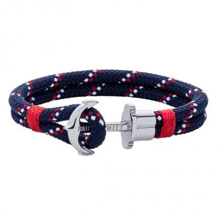 Paul Hewitt PHREPS Armband Nylon Edelstahl Marineblau Rot PH002296