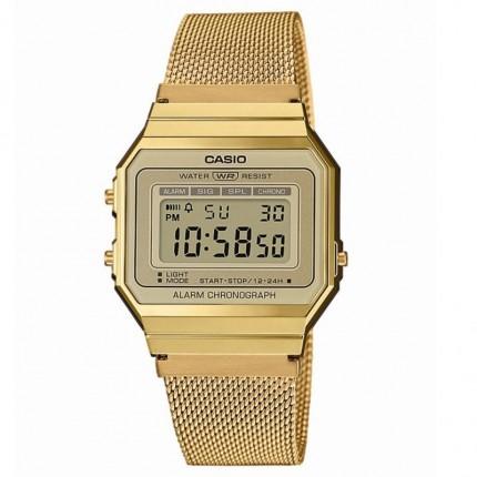 Casio Armbanduhr Vintage Iconic Collection Edelstahl A700WEMG-9AEF