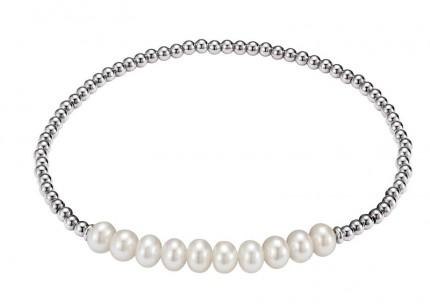 ADRIANA Perlenarmband Silber Rhodiniert Süßwasserperlen A126