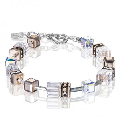 COEUR DE LION Armband Geo Cube Kristall Roségold 4015/30-1822