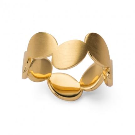 Bastian Inverun Ring 925/- Silber Vergoldet 38290