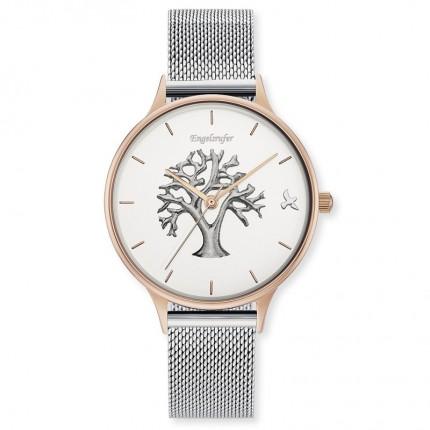 Engelsrufer Armbanduhr Edelstahl Bicolor Mesh Lebensbaum ERWA-TREE02-MS-MR