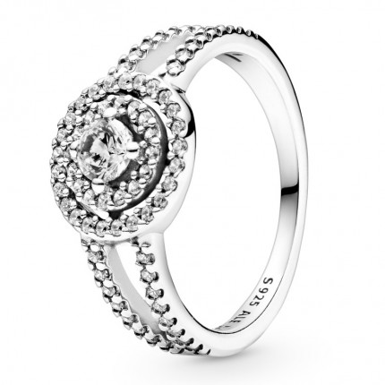 PANDORA Silber Ring Sparkling Double Halo 199408C01