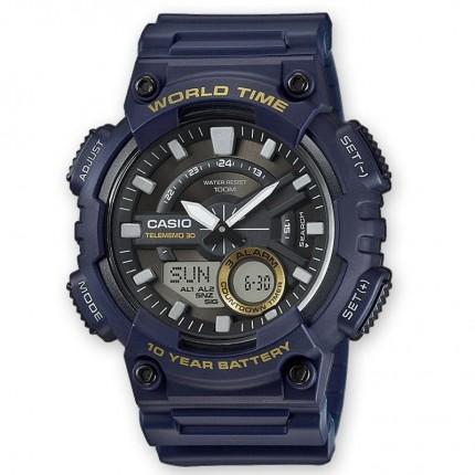 Casio Armbanduhr Collection Blau Analog Digital AEQ-110W-2AVEF