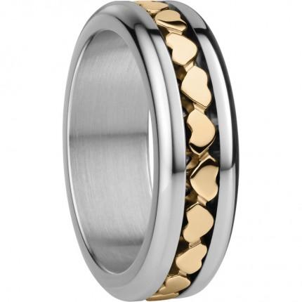 Bering Ringkombination Edelstahl Bicolor Pisa-X