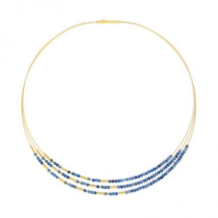 BERND WOLF Collier CLINI Silber Goldplattierung Kyanit 85233796-43