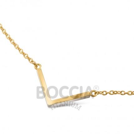 Boccia Collier Titan V-Form Gold 08015-02